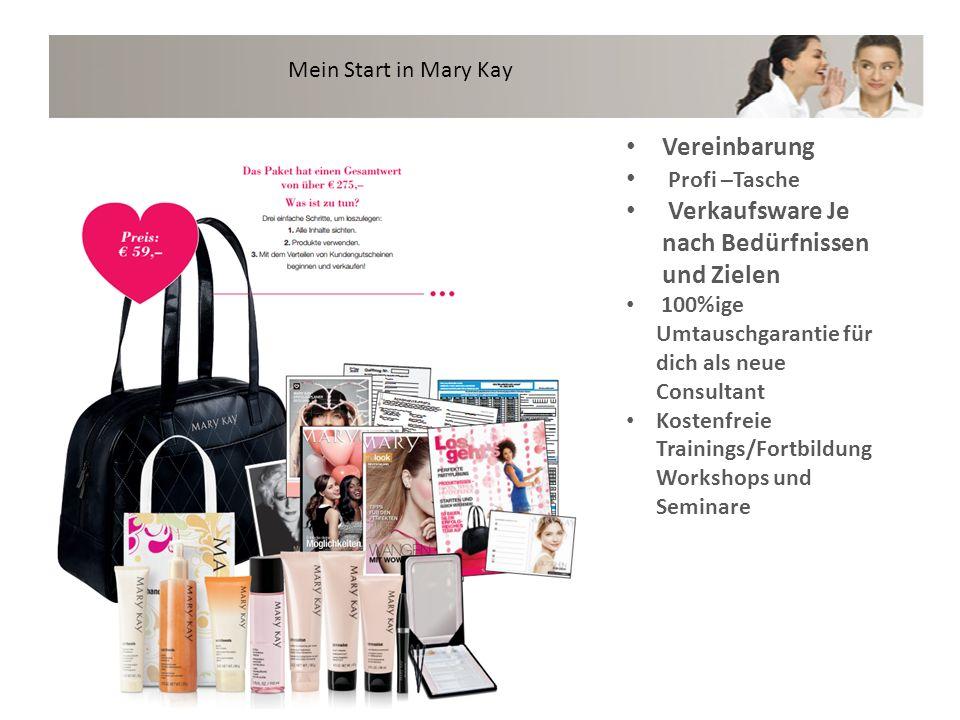 Mein Start in Mary Kay Vereinbarung Profi –Tasche Verkaufsware Je nach Bedürfnissen und Zielen 100%ige Umtauschgarantie für dich als neue Consultant K