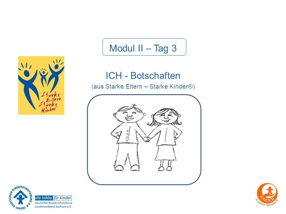 Modul II – Tag 3 ICH - Botschaften (aus Starke Eltern – Starke Kinder®)