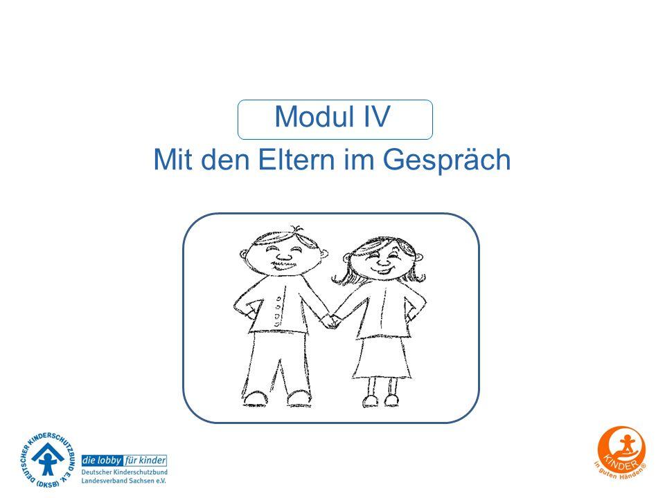 Modul IV Mit den Eltern im Gespräch