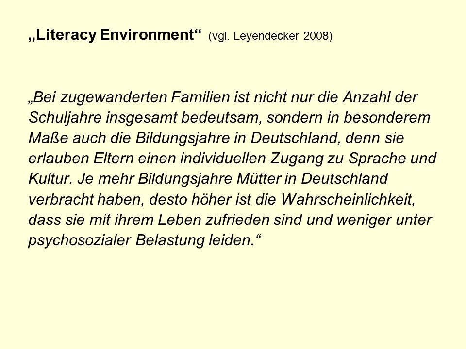 """Literacy Environment (vgl."