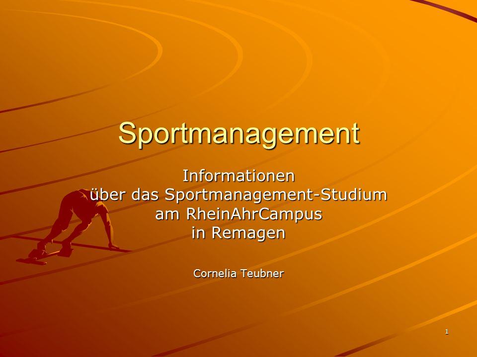 16.02.2007 Cornelia Teubner 2 Sportmanagement Voraussetzungen -Sportaffinität -Ehrenamtliche Mitarbeit in Sportvereinen -evt.