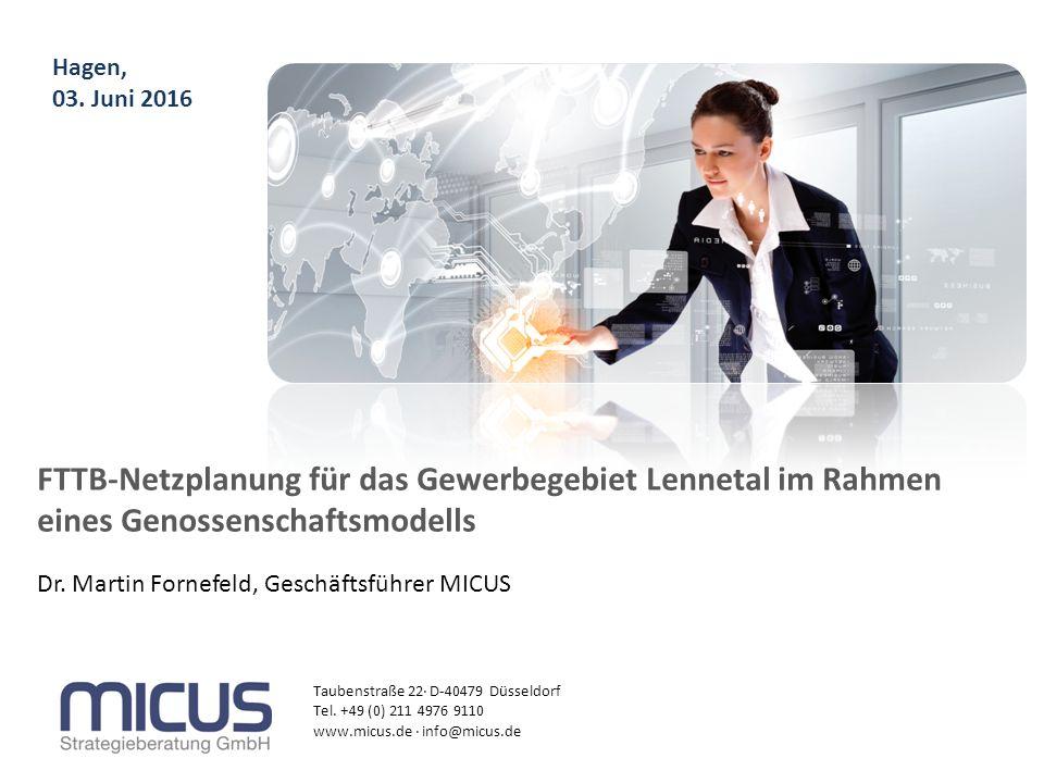 Taubenstraße 22· D-40479 Düsseldorf Tel. +49 (0) 211 4976 9110 www.micus.de · info@micus.de Dr. Martin Fornefeld, Geschäftsführer MICUS Hagen, 03. Jun