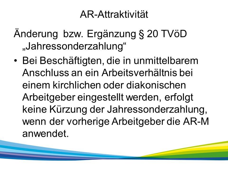 AR-Attraktivität Änderung bzw.