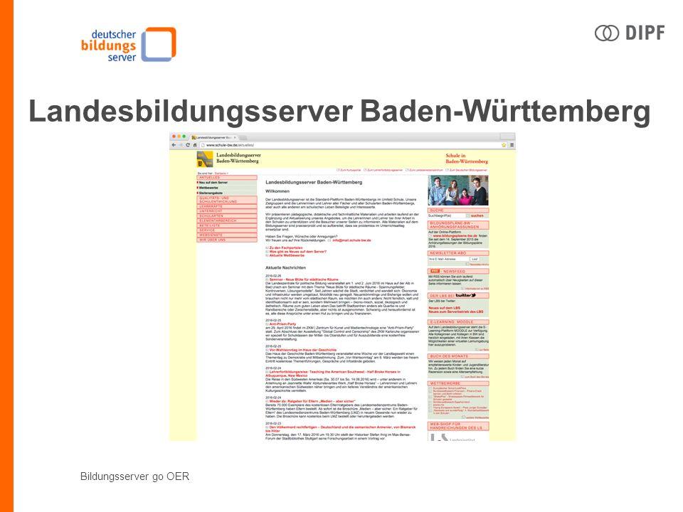 Bildungsserver go OER Landesbildungsserver Baden-Württemberg