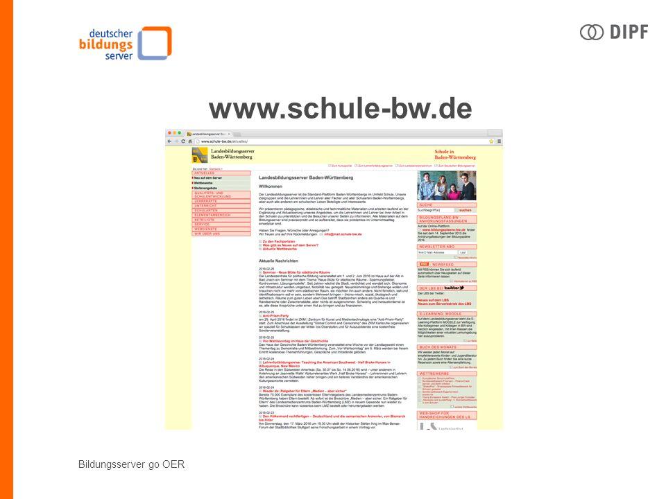 Bildungsserver go OER www.schule-bw.de