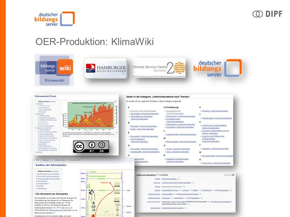 Ingo Blees | DIPF | Deutscher Bildungsserver | OERde14, Bildungsserver go OER OER-Produktion: KlimaWiki