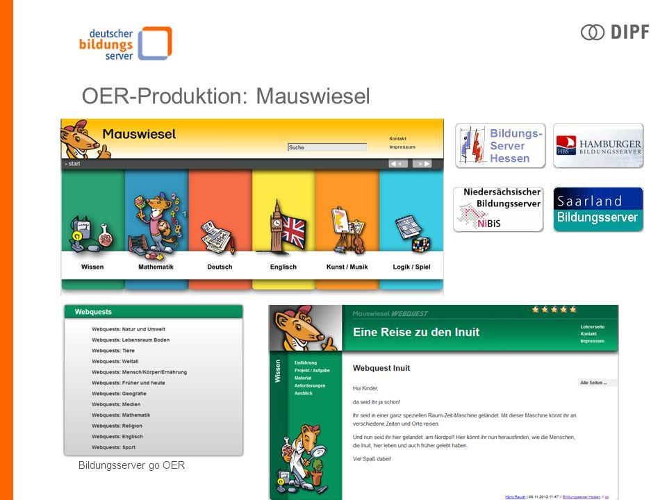 Bildungsserver go OER OER-Produktion: Mauswiesel