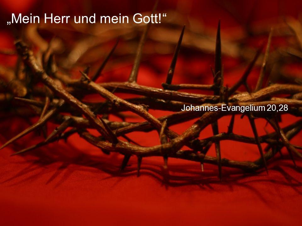"""Johannes-Evangelium 20,28 """"Mein Herr und mein Gott!"""