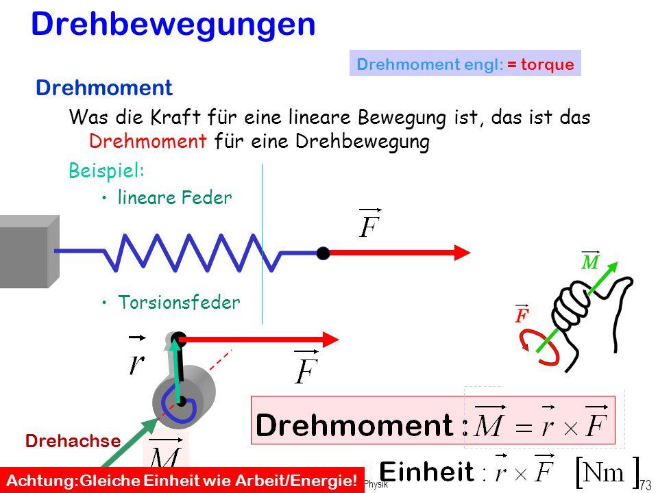 Prof. Dr. H. Graßl, Angewandte Physik 72 Winkelgeschwindigkeit als Vektor Bei Kreisbewegung Kreuzprodukt zweier Vektoren ist ein Vektor, der senkrecht
