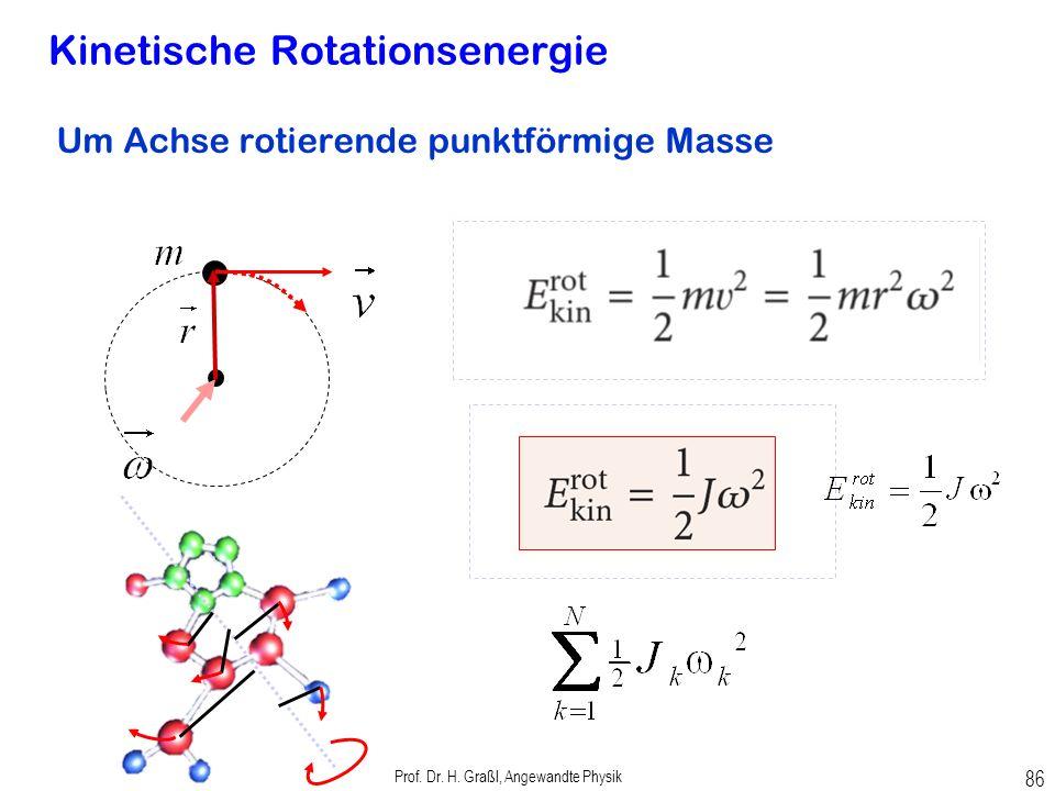 Prof. Dr. H. Graßl, Angewandte Physik 85 Beispiel: Leistung des Motors einer Bohrmaschine Reibungswiderstand bewirkt Drehmoment Drehgeschwindigkeit Mo