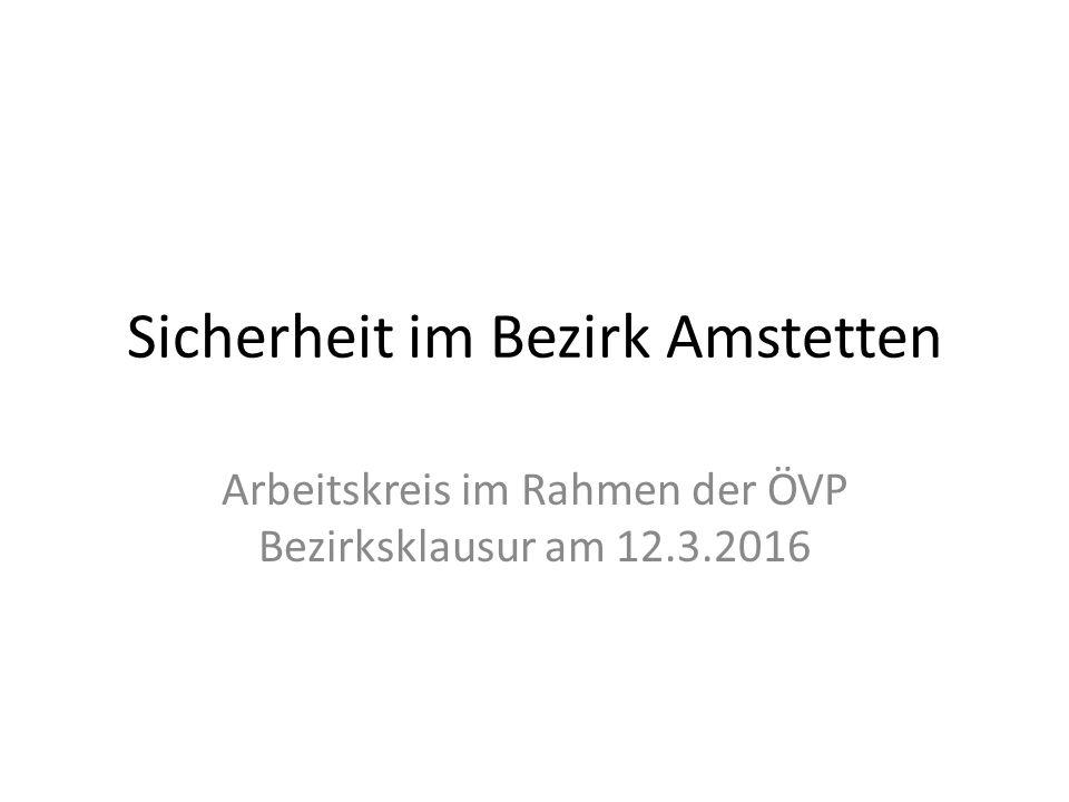 Sicherheit im Bezirk Amstetten Arbeitskreis im Rahmen der ÖVP Bezirksklausur am 12.3.2016