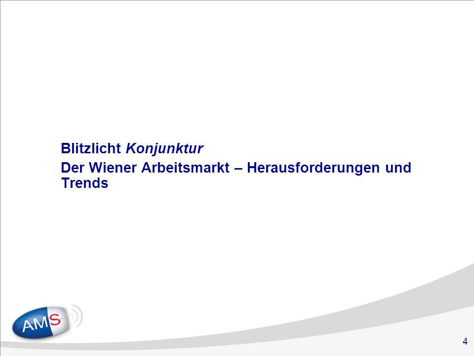 4 Blitzlicht Konjunktur Der Wiener Arbeitsmarkt – Herausforderungen und Trends