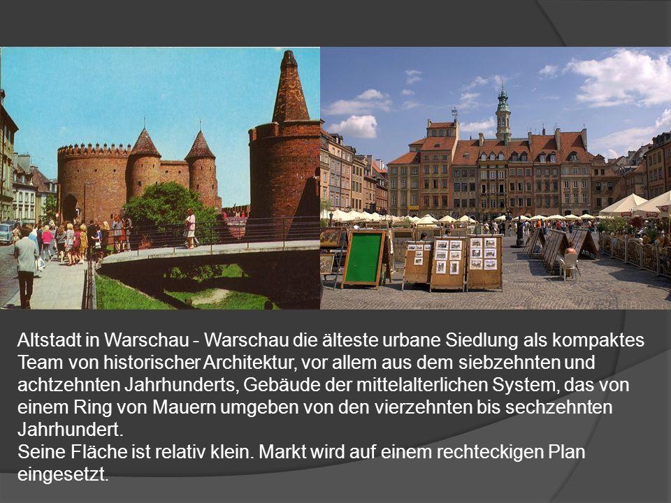 Altstadt in Warschau - Warschau die älteste urbane Siedlung als kompaktes Team von historischer Architektur, vor allem aus dem siebzehnten und achtzeh