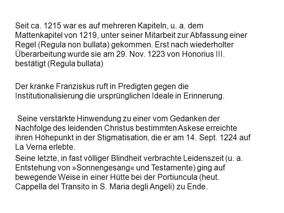 Seit ca.1215 war es auf mehreren Kapiteln, u. a.