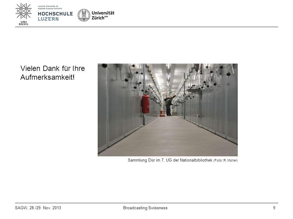 SAGW, 28./29. Nov. 20139Broadcasting Swissness Sammlung Dür im 7.