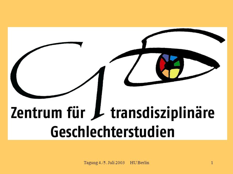 Tagung 4./5. Juli 2003 HU Berlin1