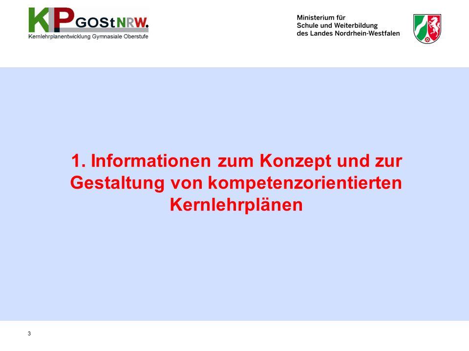 1. Informationen zum Konzept und zur Gestaltung von kompetenzorientierten Kernlehrplänen 3