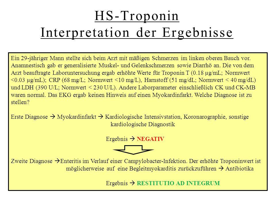 Wann ist HS-Troponin erhöht?