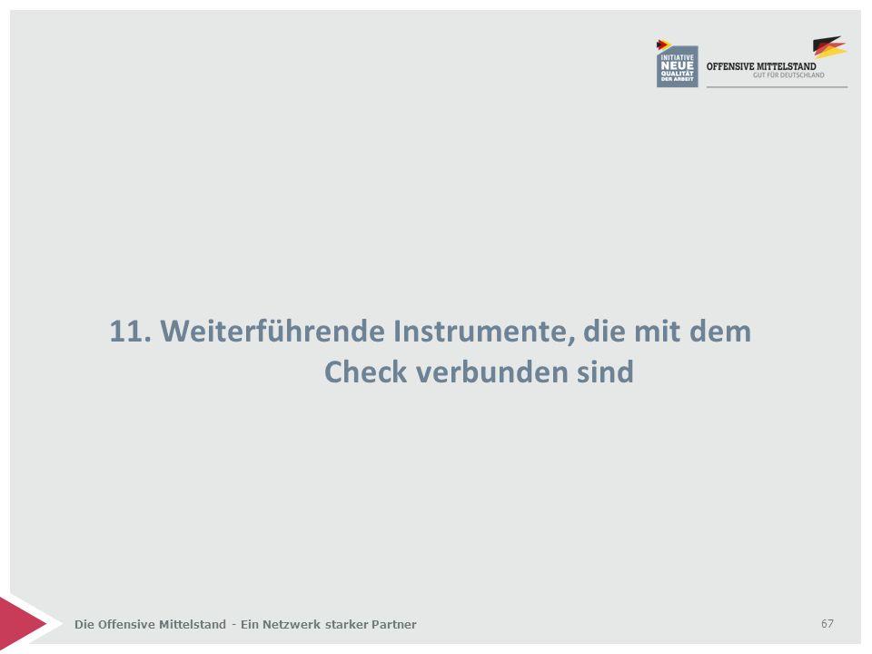 Die Offensive Mittelstand - Ein Netzwerk starker Partner 11. Weiterführende Instrumente, die mit dem Check verbunden sind 67