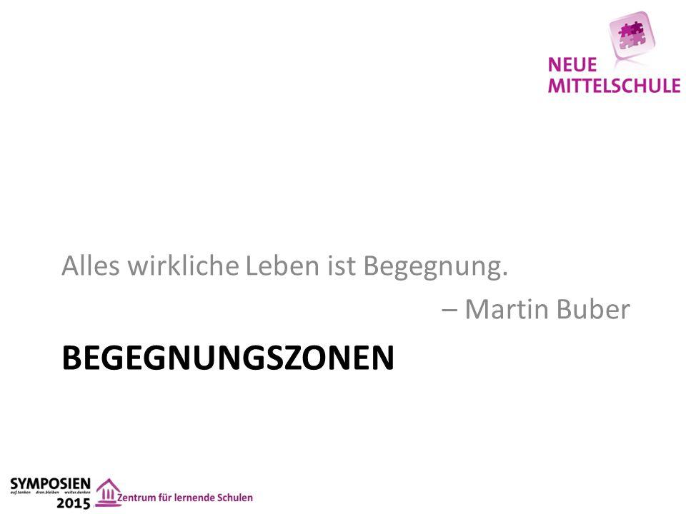 BEGEGNUNGSZONEN Alles wirkliche Leben ist Begegnung. – Martin Buber
