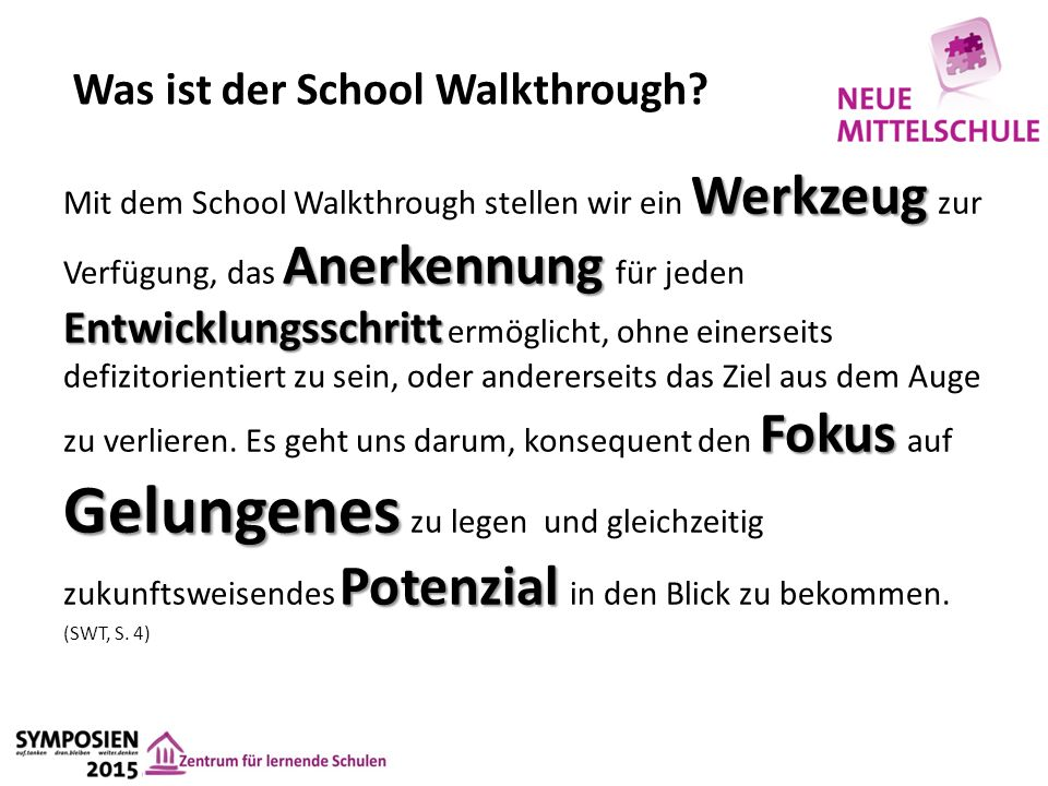 Was ist der School Walkthrough.