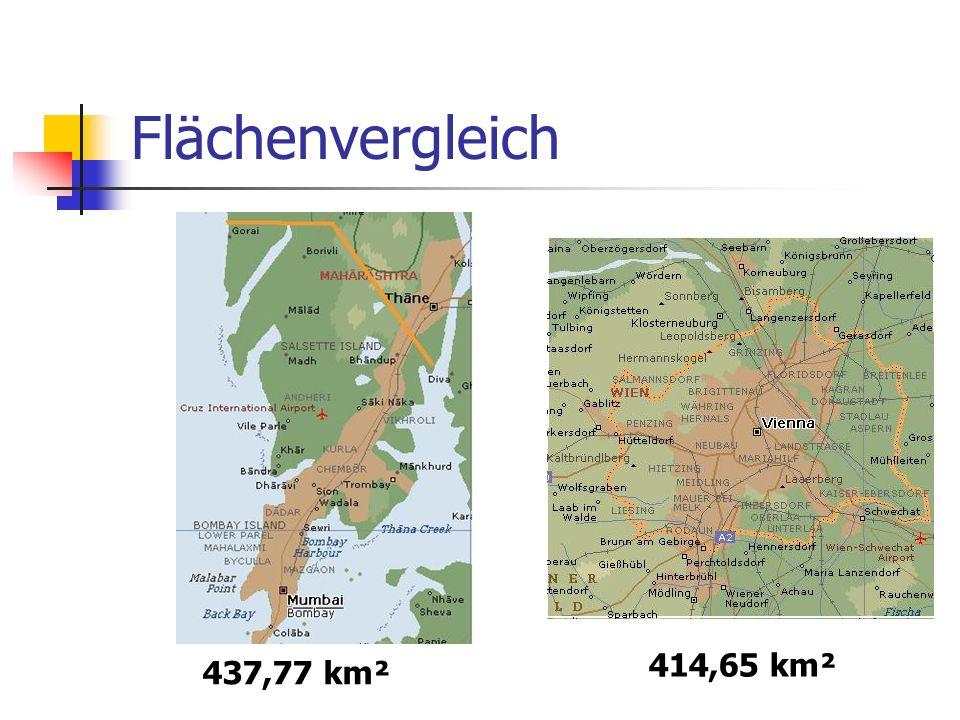 Flächenvergleich 437,77 km² 414,65 km²