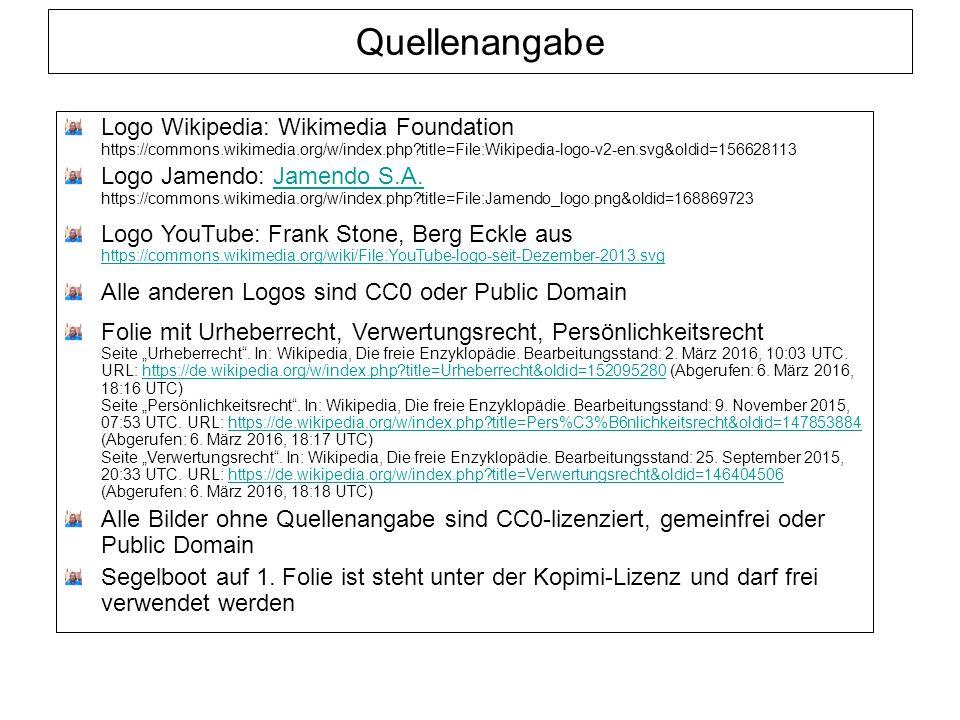 Quellenangabe Logo Wikipedia: Wikimedia Foundation https://commons.wikimedia.org/w/index.php?title=File:Wikipedia-logo-v2-en.svg&oldid=156628113 Logo Jamendo: Jamendo S.A.