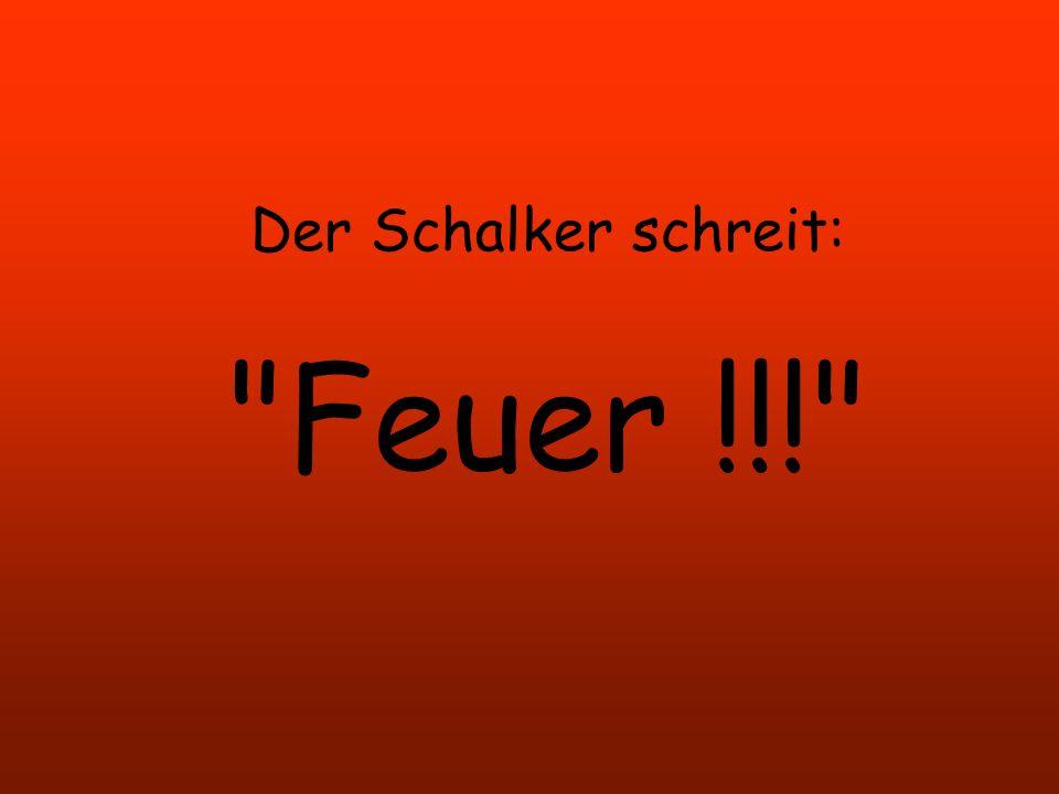 Der Schalker wird zu Exekution freigegeben. Der Kommandeur ruft: Gewehre Anlegen!