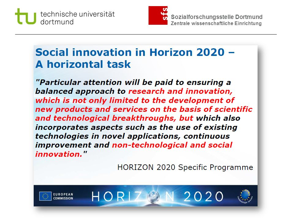 Sozialforschungsstelle Dortmund Zentrale wissenschaftliche Einrichtung