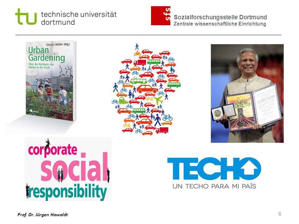 Sozialforschungsstelle Dortmund Zentrale wissenschaftliche Einrichtung Prof. Dr. Jürgen Howaldt 6
