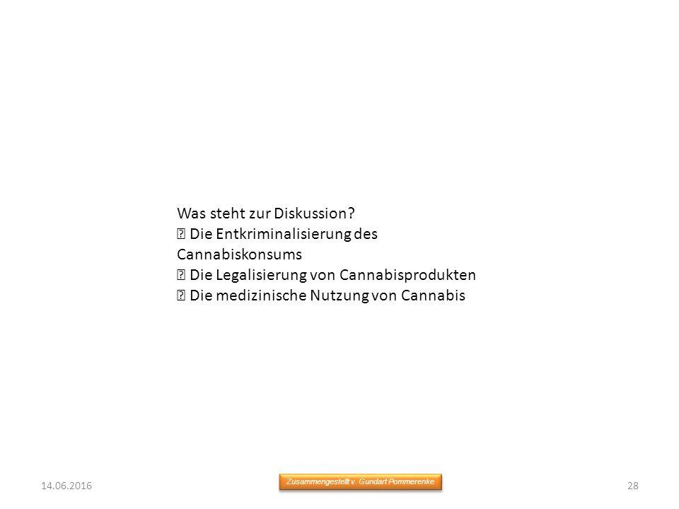14.06.201628 Zusammengestellt v. Gundart Pommerenke Was steht zur Diskussion.