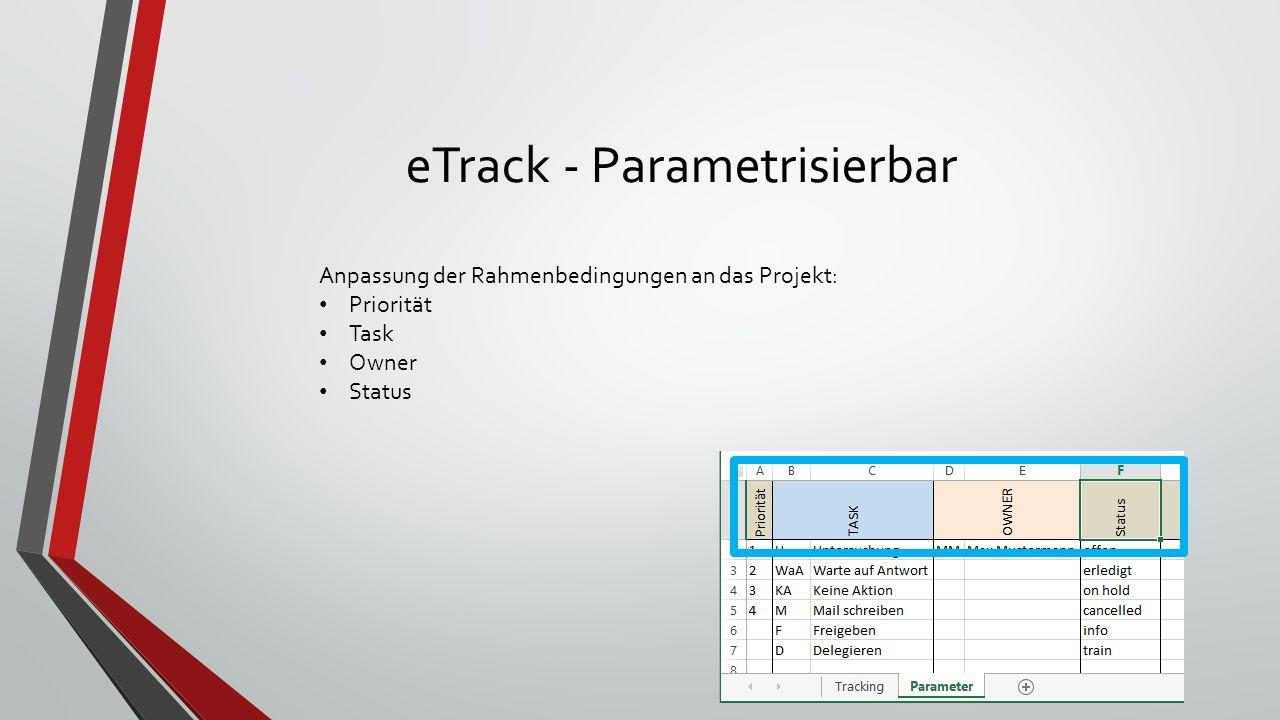 eTrack - Projektplattform Kann nach Owner und dessen Task gefiltert werden