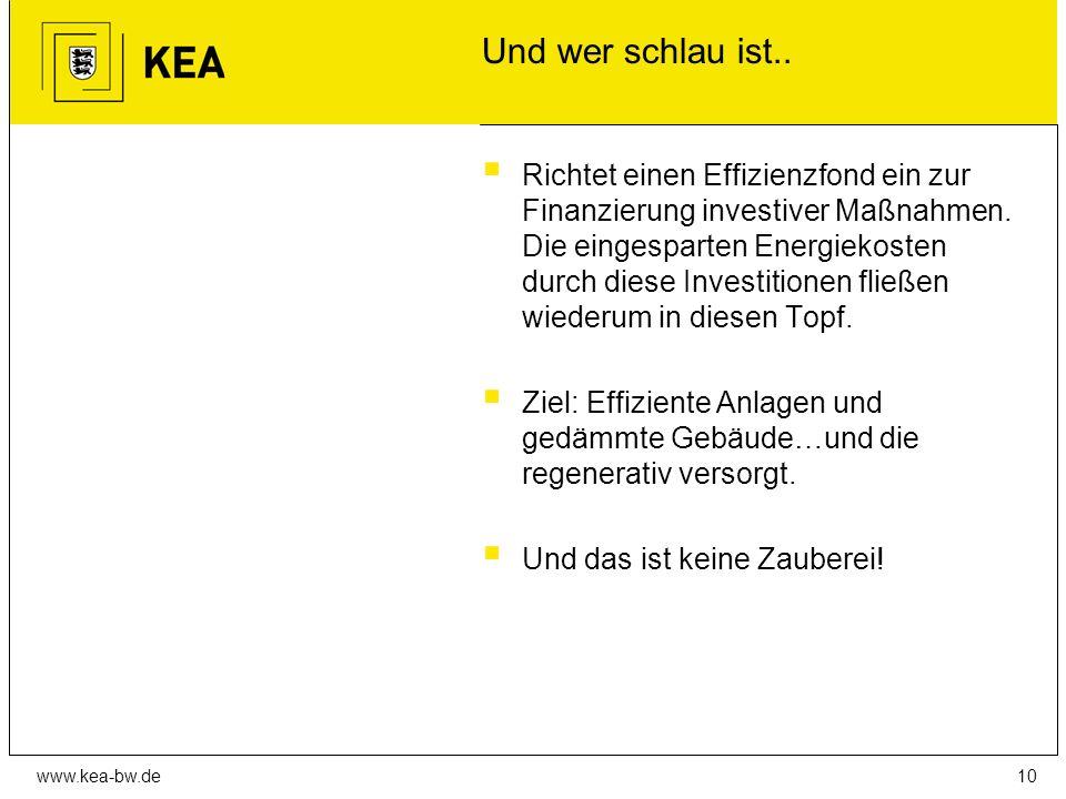 www.kea-bw.de Und wer schlau ist..