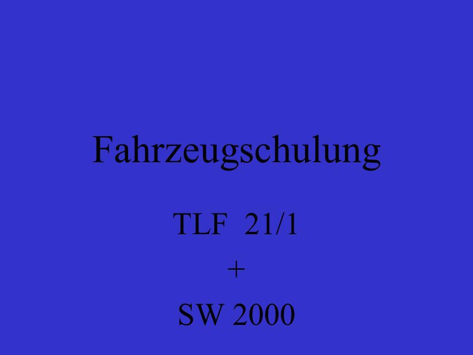 Fahrzeugschulung TLF 21/1 + SW 2000