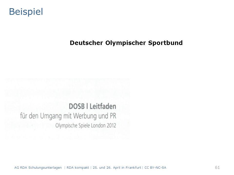 Beispiel AG RDA Schulungsunterlagen | RDA kompakt | 25.