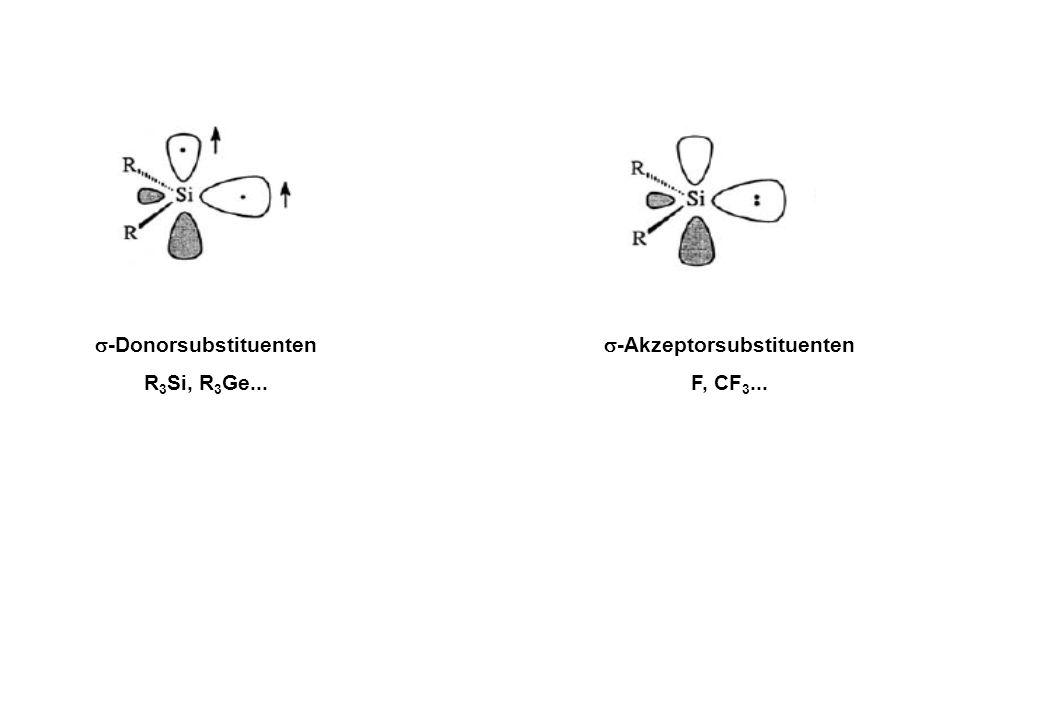  -Donorsubstituenten R 3 Si, R 3 Ge...  -Akzeptorsubstituenten F, CF 3...