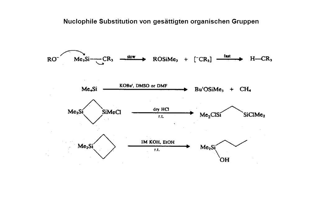Substitution von Heterosubstituenten (Cl, OR, SR, NR 2...)