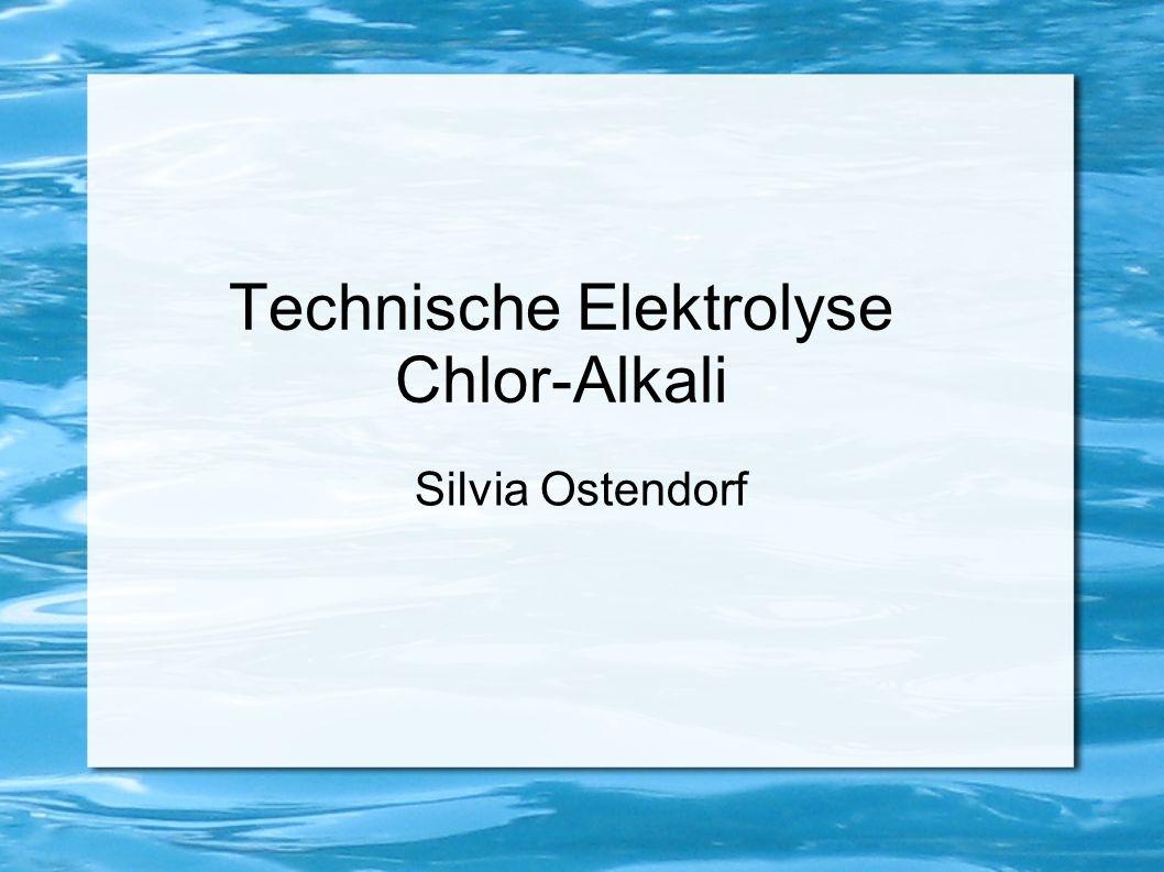 Technische Elektrolyse Chlor-Alkali Silvia Ostendorf
