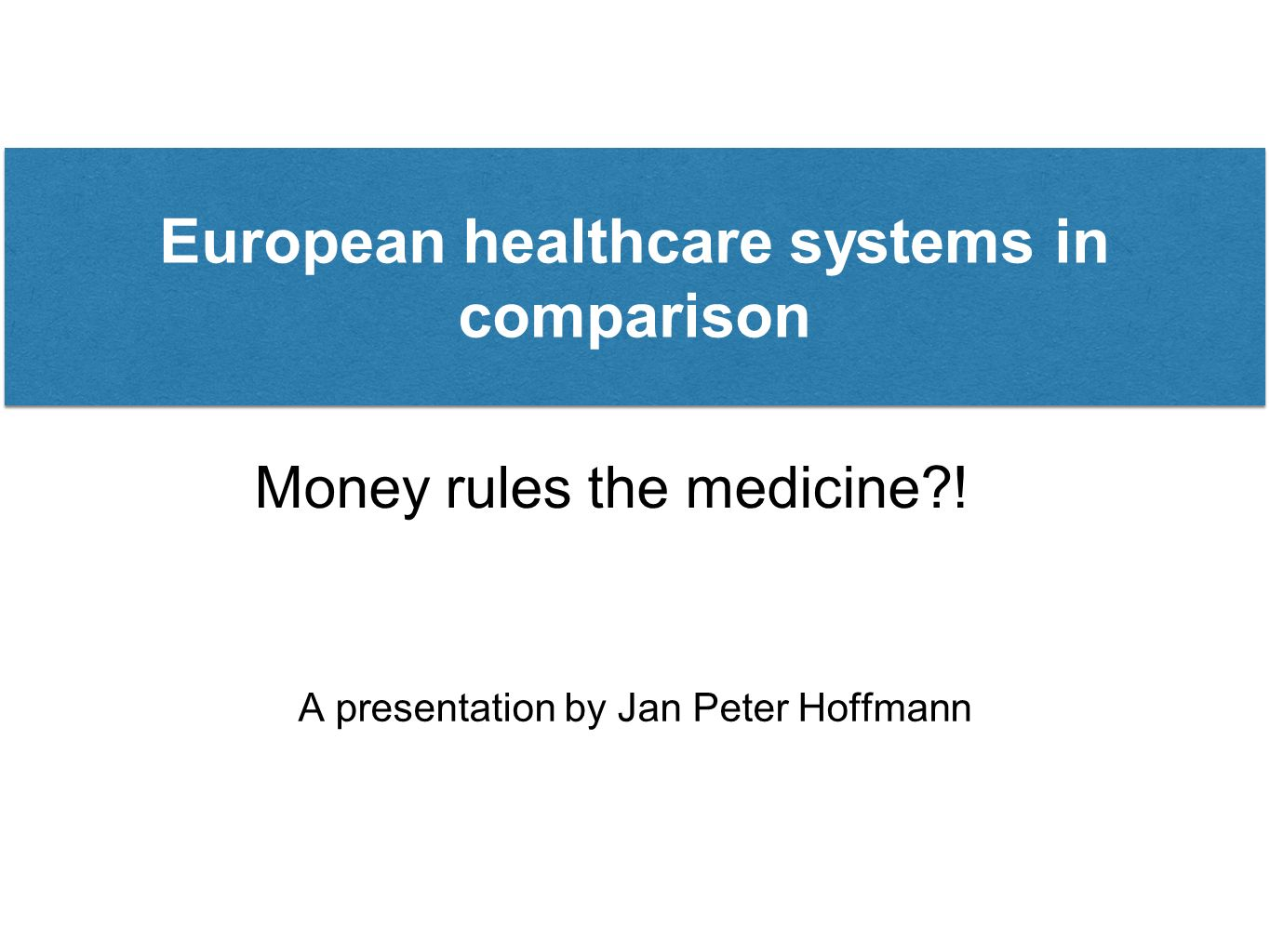 Money rules the medicine?.