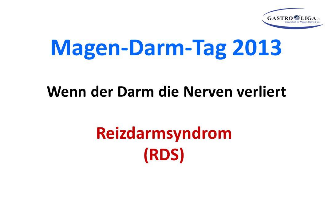 Magen-Darm-Tag 2013 Wenn der Darm die Nerven verliert Reizdarmsyndrom (RDS)