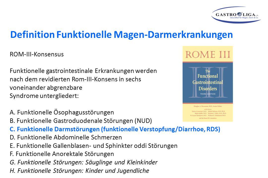 ROM-III-Konsensus Funktionelle gastrointestinale Erkrankungen werden nach dem revidierten Rom-III-Konsens in sechs voneinander abgrenzbare Syndrome un