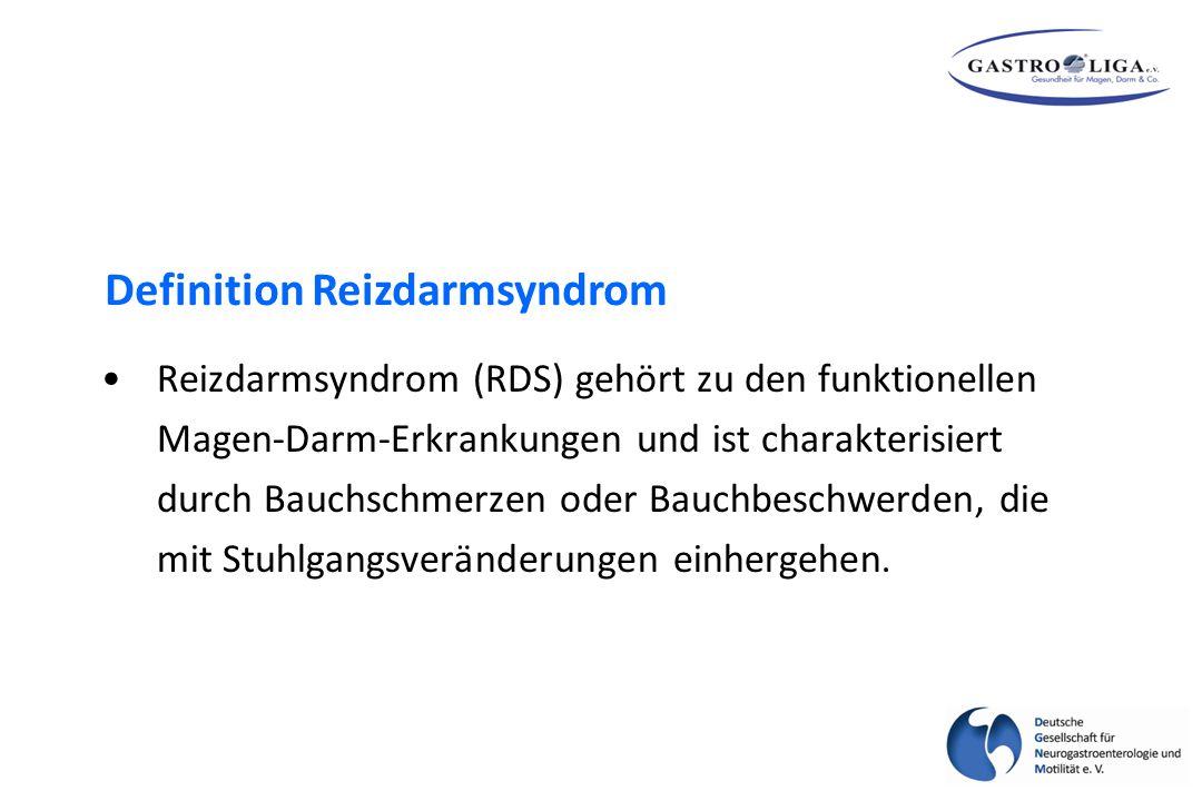 Reizdarmsyndrom (RDS) gehört zu den funktionellen Magen-Darm-Erkrankungen und ist charakterisiert durch Bauchschmerzen oder Bauchbeschwerden, die mit