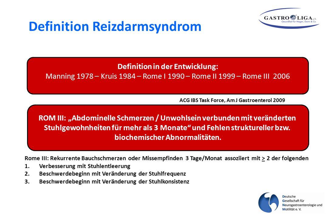 Dyspepsie IBS Gastroenterology 2005;129:98-104 Prävalenz % Pathophysiologie – postinfektiöses IBS