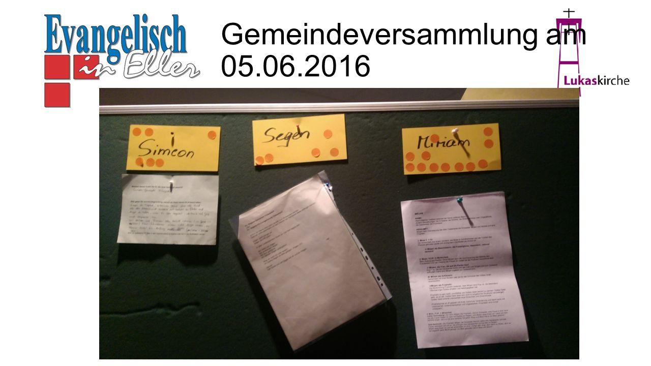 Gemeindeversammlung am 05.06.2016
