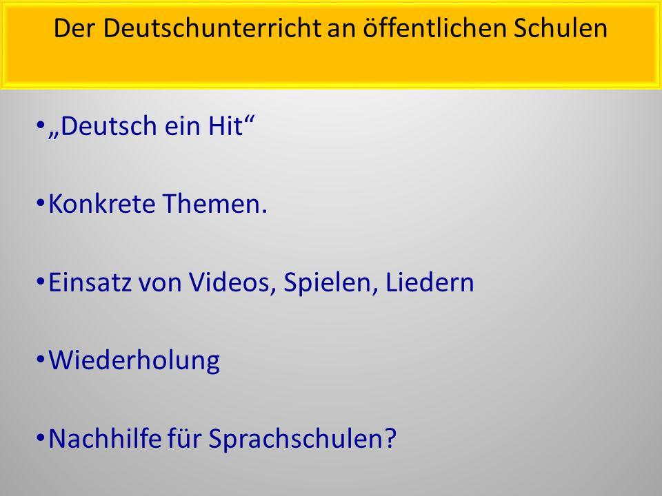 """""""Deutsch ein Hit Konkrete Themen."""