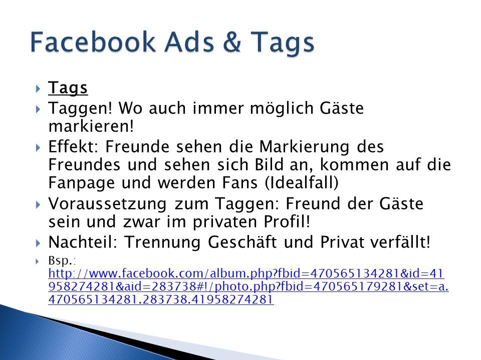  http://www.facebook.com/Hotel.Grimentz http://www.facebook.com/Hotel.Grimentz  Hohe Impressionenzahl (gute Zeit der Veröffentlichung)  Interaktionen in einer Woche - Statistik