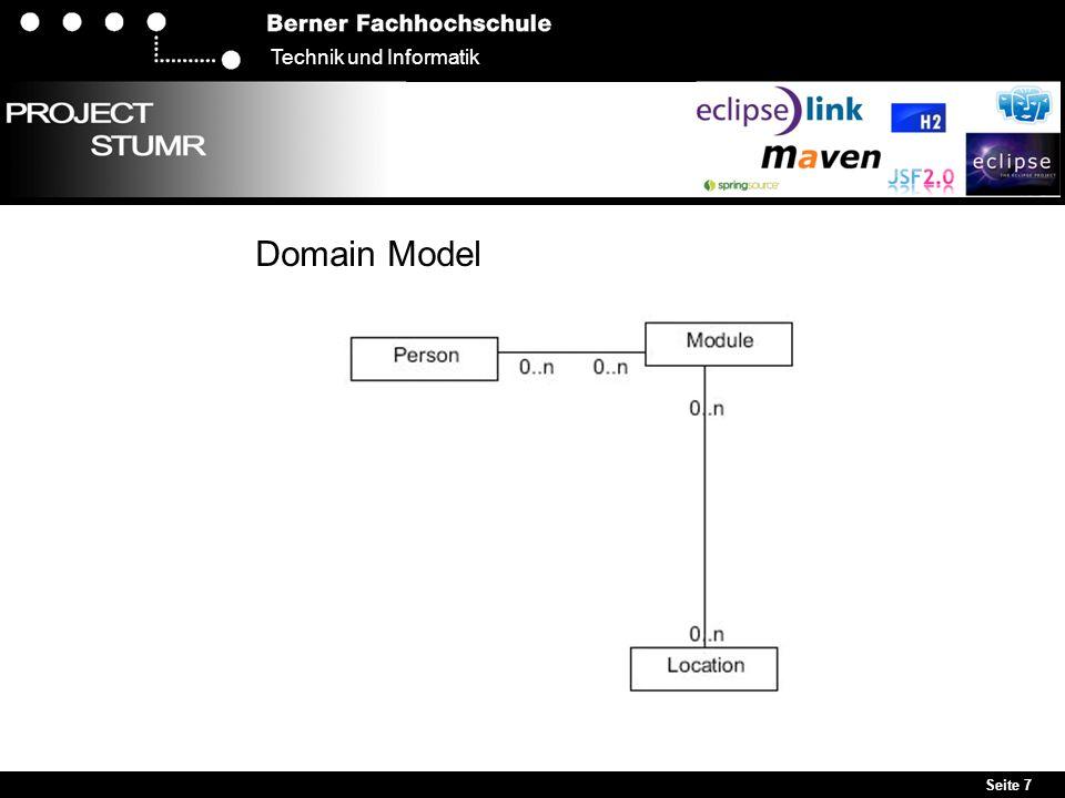 Seite 7 Technik und Informatik Domain Model