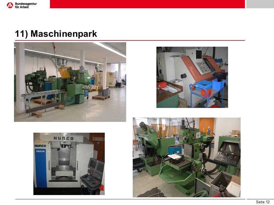 Seite 12 11) Maschinenpark