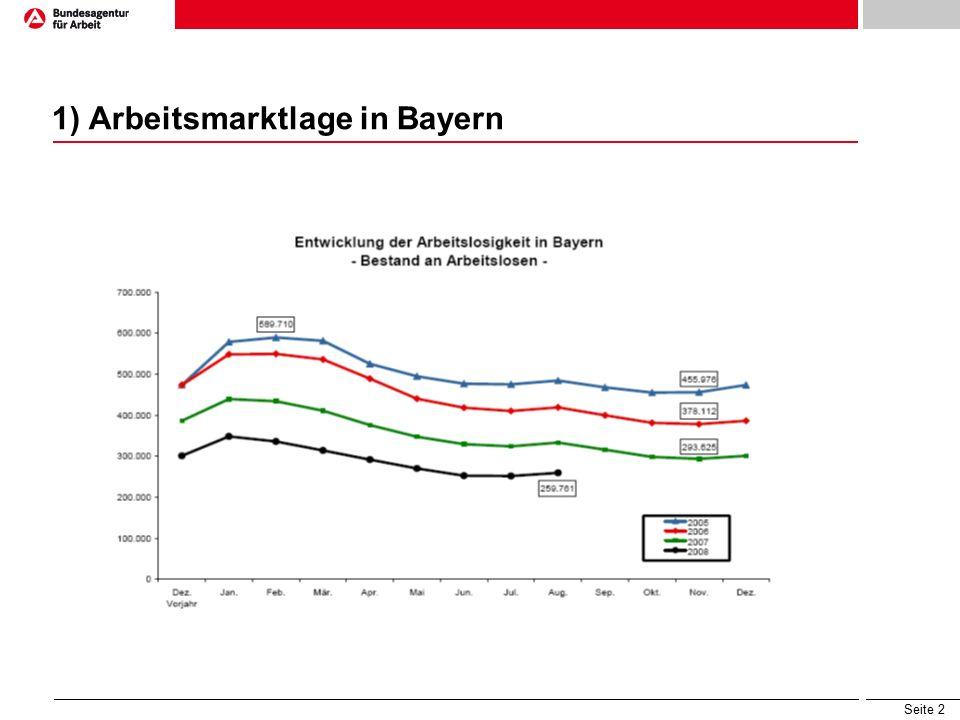 Seite 2 1) Arbeitsmarktlage in Bayern
