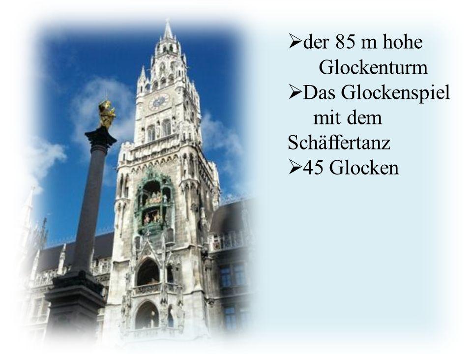 http://www.avanti- cta.cz/services/  der 85 m hohe Glockenturm  Das Glockenspiel mit dem Schäffertanz  45 Glocken